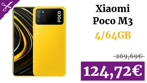 Xiaomi Poco M3 4G Smart Phone 4/64GB Media Qualcomm Snapdragon 662 6.53 Inch Screen Triple Camera 48MP + 2MP + 2MP 6000mAh Battery