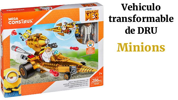 Minions Disney Vehiculo transformable de DRU