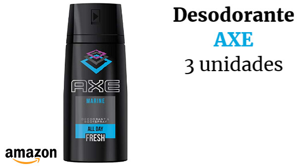 AXE Desodorante Bodyspray Marine - 3 Paquetes de 150 ml - Total: 450 ml