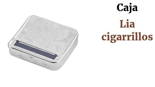 Caja de almacenamiento de metal para cigarrillos autom/ática Naisicatar