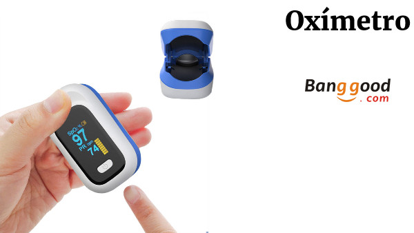 BOXYM YK-80X Mini OLED Finger-Clamp Pulse Oximeter Home Heathy Blood Oxygen Saturation Monitor - Blue