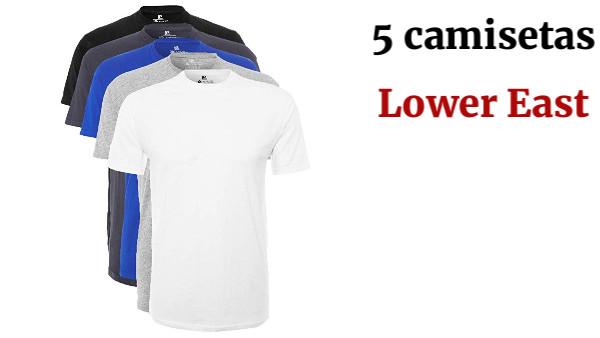 Lower East Camiseta de manga larga Hombre Pack de 5