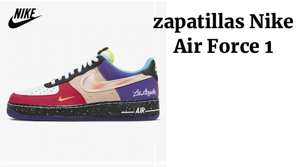 "Nike-zapatillas Nike Air Force 1 para hombre y mujer, originales, estilo Low ""What The LA"", talla de zapatillas 36 a 45 CT1117-100"