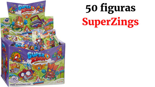 SuperZings - Serie 5 - Display de 50 Figuras Coleccionables (PSZ5D850IN01), con 1 Figura en cada Sobre