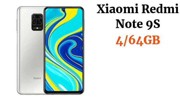 "Versión Global Xiaomi Redmi Note 9S 4GB 64GB Smartphone Qualcomm Snapdragon 720G 6,67 ""FHD DotDisplay 5020mAh 48MP Quad Camera"