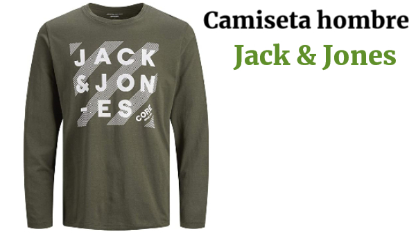 Jack /& Jones Jjhero tee LS Crew Neck Camiseta para Hombre