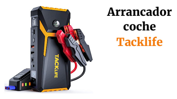 TACKLIFE T8-Newer Model 800A Peak 18000mAh Car Jump Starter con Pantalla LCD (hasta 7.0L Gas, 5.5L Diesel Engine), 12V Auto Battery Booster con Smart Jumper Cable, Cargador rápido (Amarillo)
