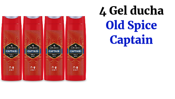 4 gel de ducha Old Spice Captain